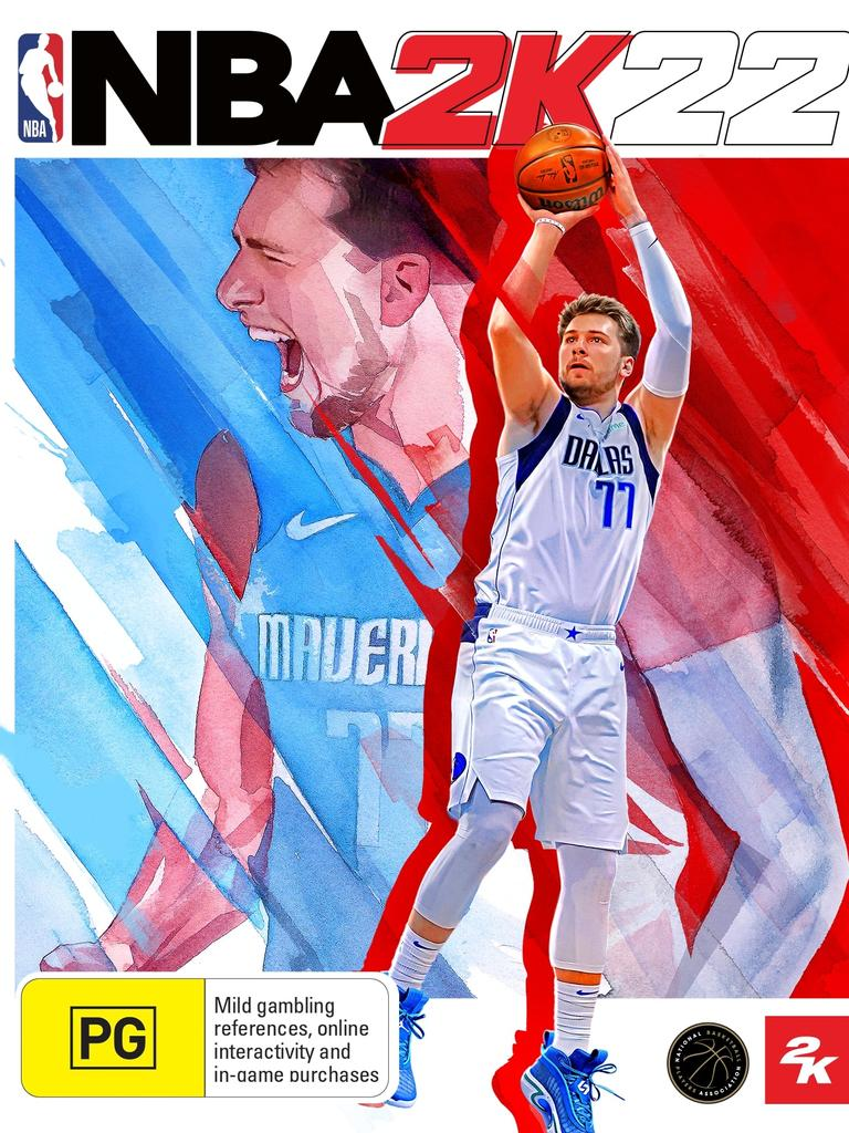 Luka Doncic's 2K22 standard edition cover.