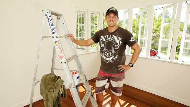 Myles Conquest who is fixing up the former family home at Keperra to list for sale. Picture: Mark Calleja