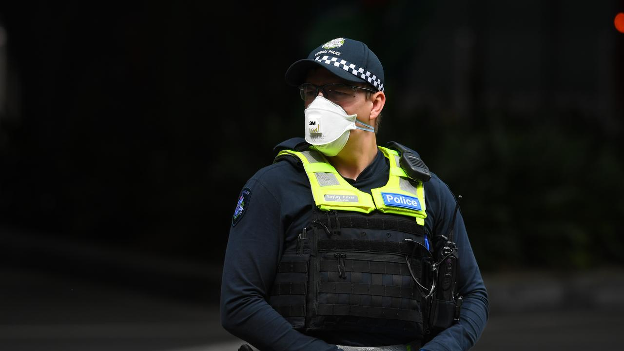 The inquiry has previously heard it was Victoria Police's preference for private security firms to be the first line of defence in guarding returned travellers. Picture: AAP Image/Bianca De Marchi