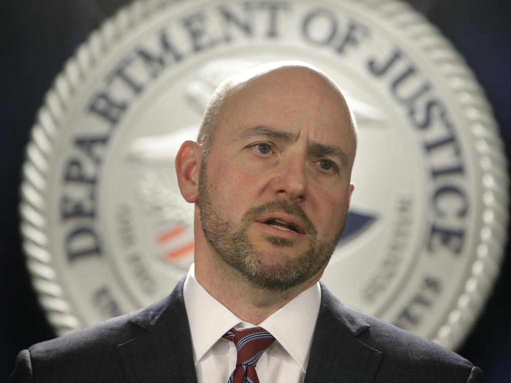 US lawyer for District of Massachusetts Andrew Lelling. Picture: AP Photo/Steven Senne
