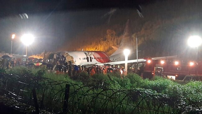 Air India Express Flight Skids Off Runway in Southern India