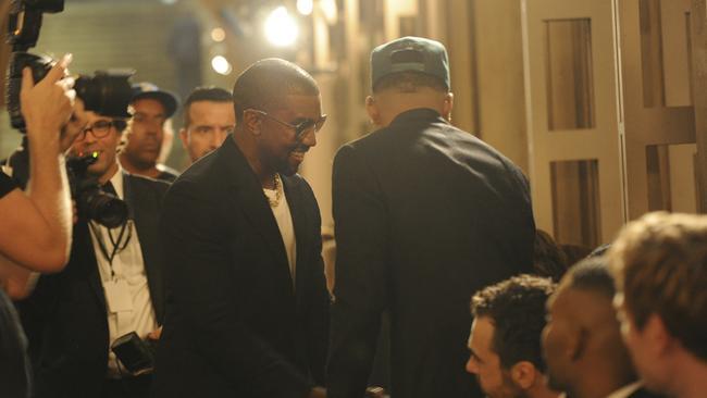 Later, he was all smiles inside the venue. Credit: AP Photo/Diane Bondareff