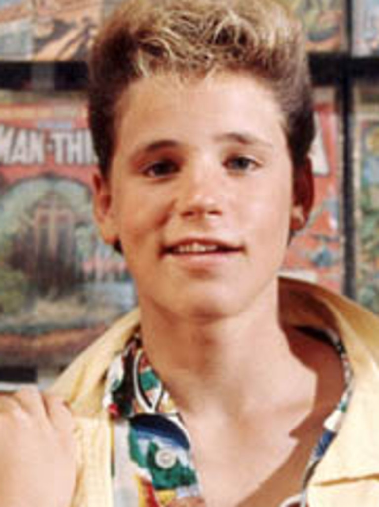 Corey Haim in the movie The Lost Boys.