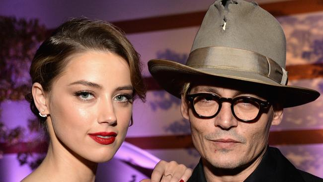Amber Heard has reissued a joint statement first released after her split from Johnny Depp as JK Rowling defended contuining to work with her ex. Picture: Getty