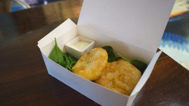 The potato cake at Blue Lips Fish and Chips in Exmouth, WA has been voted the country's best.