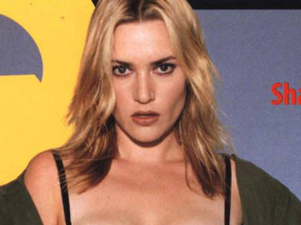 Actor Kate Winslet on cover of the February 2003 issue of GQ Magazine.