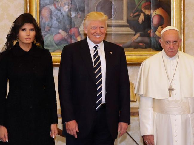 Melania Trump looks to be mourning her old life. Picture: AP