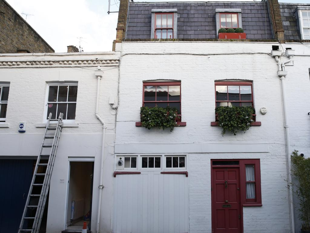 Ghislaine Maxwell's Belgravia property in London. Picture: Hollie Adams/Getty Images.