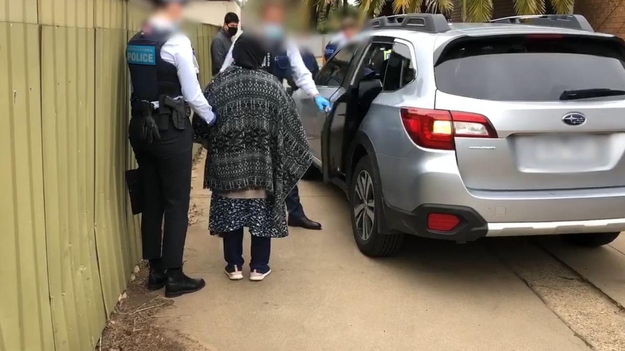 One of three people arrested in connection to the homicide investigation. Picture: Supplied by the Australian Federal Police