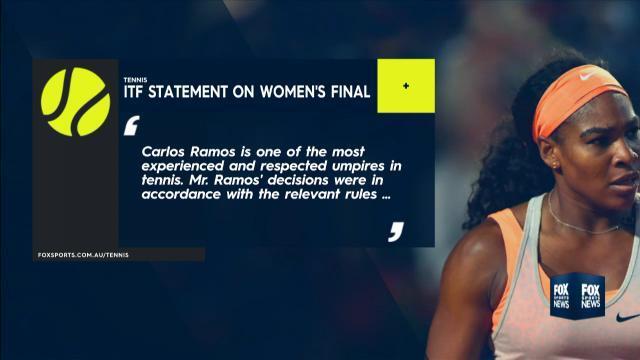 ITF support umpire Carlos Ramos over Serena Williams