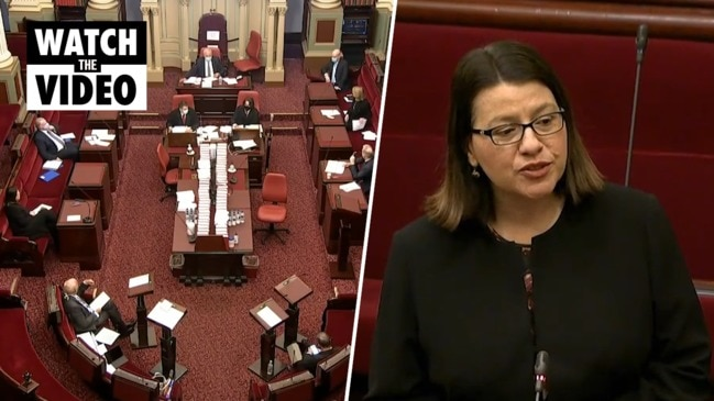 Victorian Health Minister Jenny Mikakos refuses answer questions (Nine)