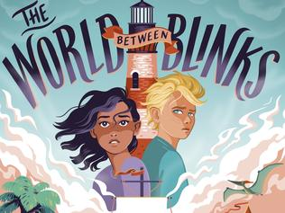 Book cover - The World Between Blinks by Amie Kaufman and Ryan Graudin. For Kids News