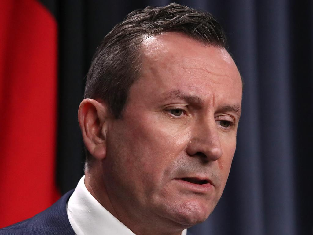 WA Premier Mark McGowan on Tuesday announced the sweeping mandate for the resources industry. Picture: Colin Murty/The Australian