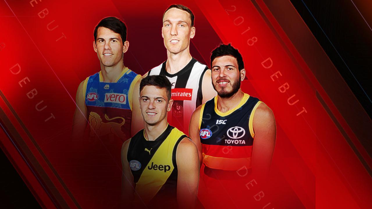 AFL players yet to debut: Brandon Starcevich (Brisbane), Jack Madgen (Collingwood), Patrick Naish (Richmond) and Ben Jarman (Adelaide).