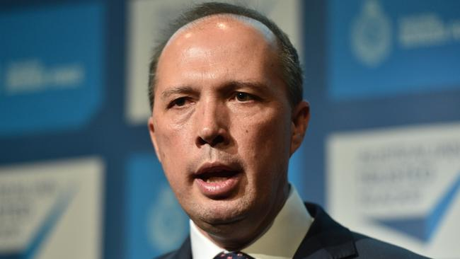 Immigration Minister Peter Dutton. Picture: AAP Image/Julian Smith.