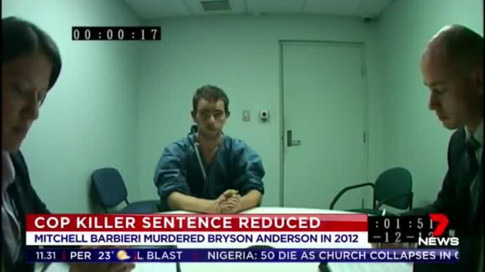 Cop killer Mitchell Barbieri gets jail term slashed by 11 years