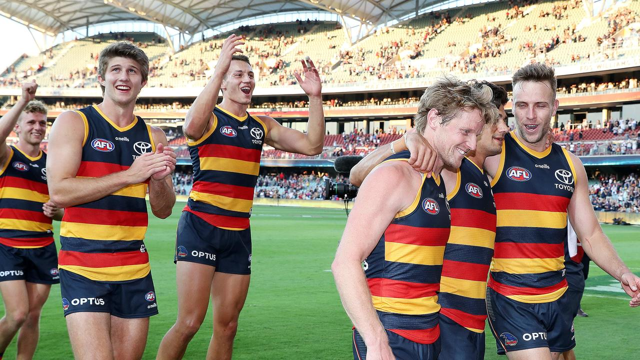 Adelaide shocked the AFL world with a win in Round 1. Photo: Sarah Reed/AFL Photos via Getty Images.