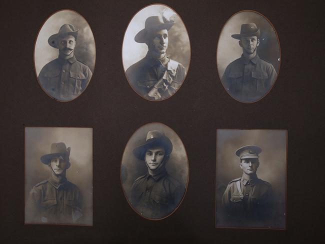 The Keid family during World War One sent away six boys to war, and only two returned. After four of the brothers were killed, the two remaining brothers were brought back at the request of the Queensland premier. The boys settled on farms at the Atherton Tablelands. Keid brothers (top left to right): Henry (nickname Harry), Bill, Walter; and (bottom) Ted, Guy, and Leonard Keid. Pic Jamie Hanson