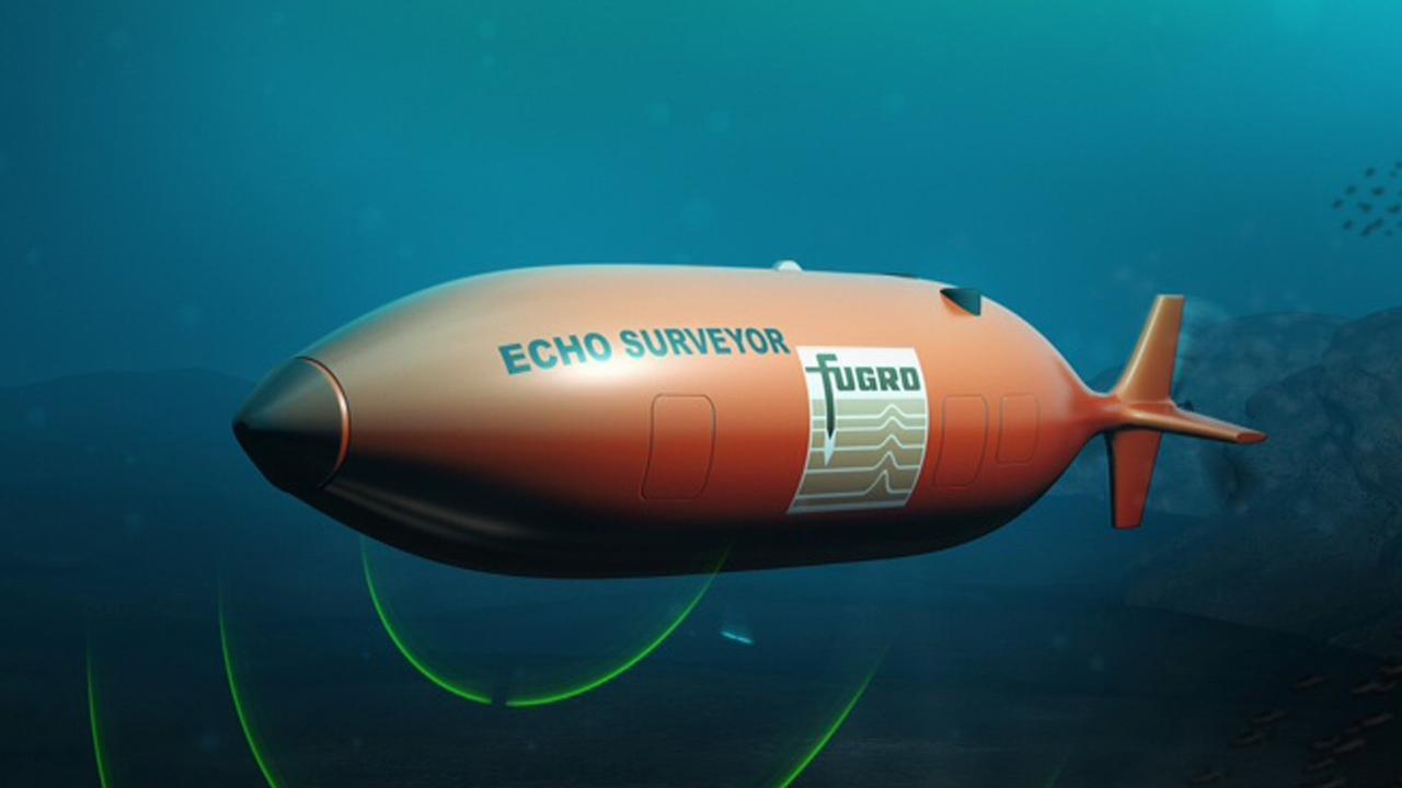 A Fugro autonomous underwater vehicle.
