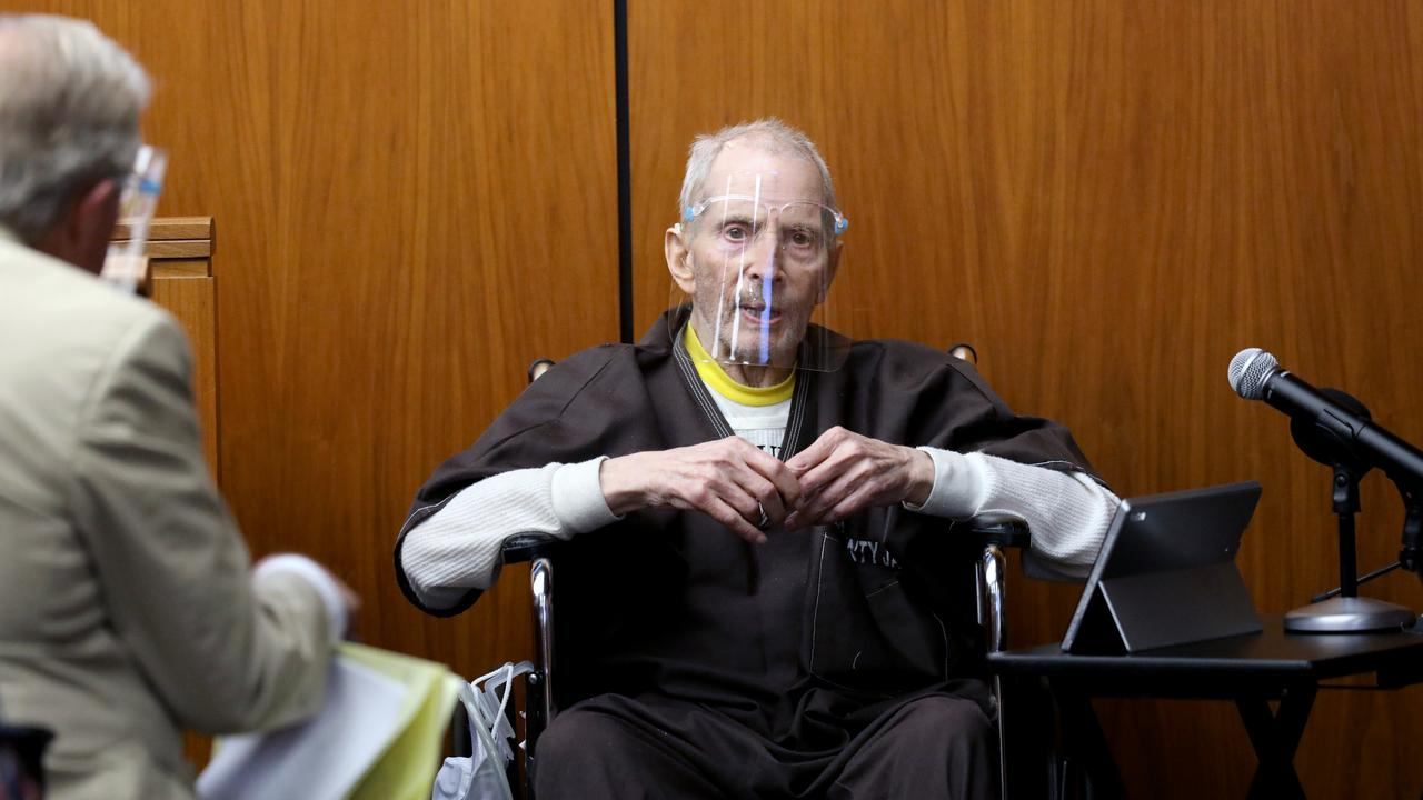 Robert Durst testifies in his murder trial at the Inglewood Courthouse on August 9, 2021. He testified that he did not kill his best friend Berman. (Photo by Gary Coronado-Pool/Getty Images)