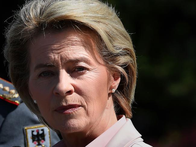 German Defence Minister Ursula von der Leyen. Picture: AFP.