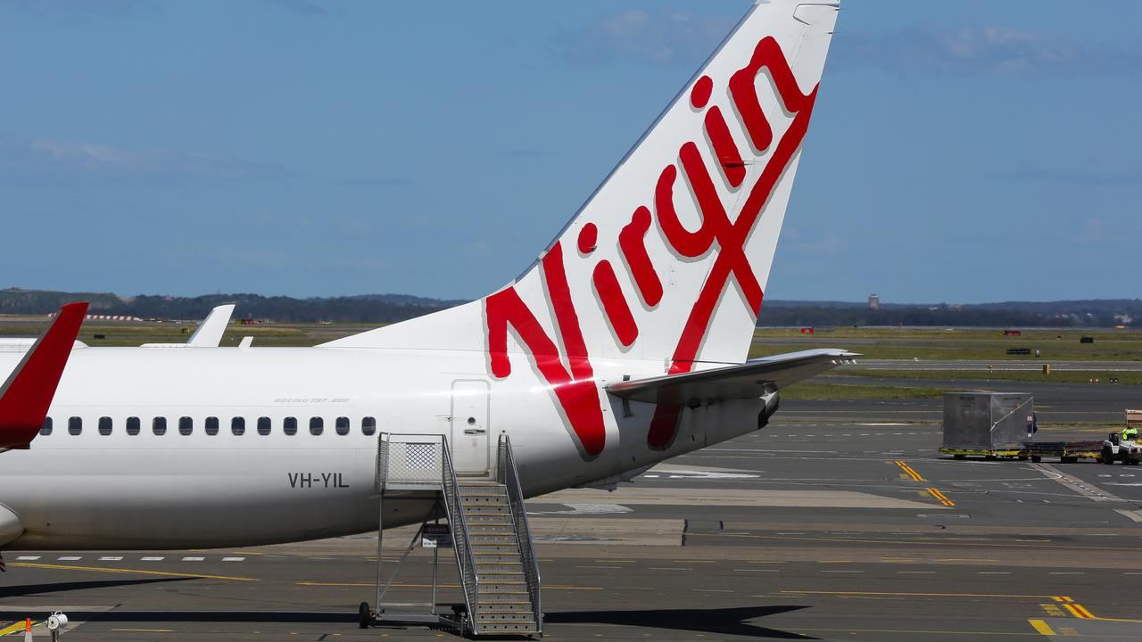 SYDNEY, AUSTRALIA – SEPTEMBER 23, 2020: Virgin Planes seen at Terminal 2 in the Sydney Domestic Airport in Sydney, Australia, on SEPTEMBER 23 2020. Picture: NCA Newswire / Gaye Gerard