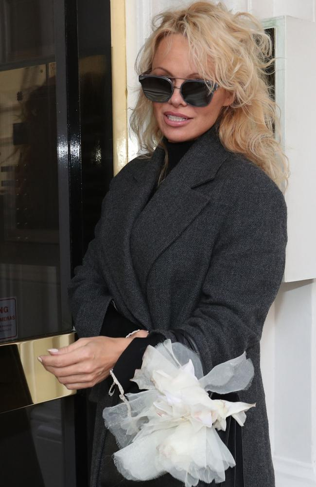 Former Baywatch actress Pamela Anderson has been keeping the WikiLeaks founder company these past months. Picture: Jonathan Brady/PA