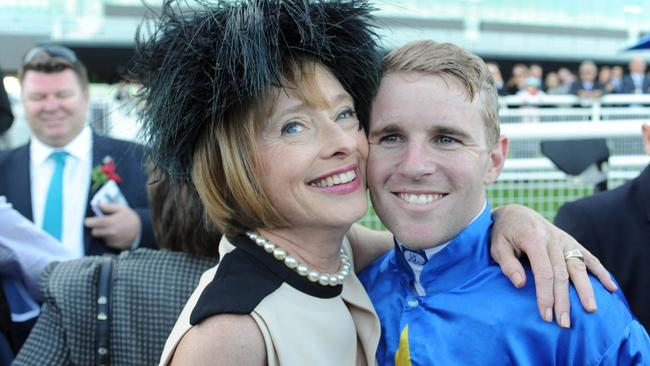 Gai Waterhouse enjoys a close working relationship with Tommy Berry. Picture: Simon Bullard