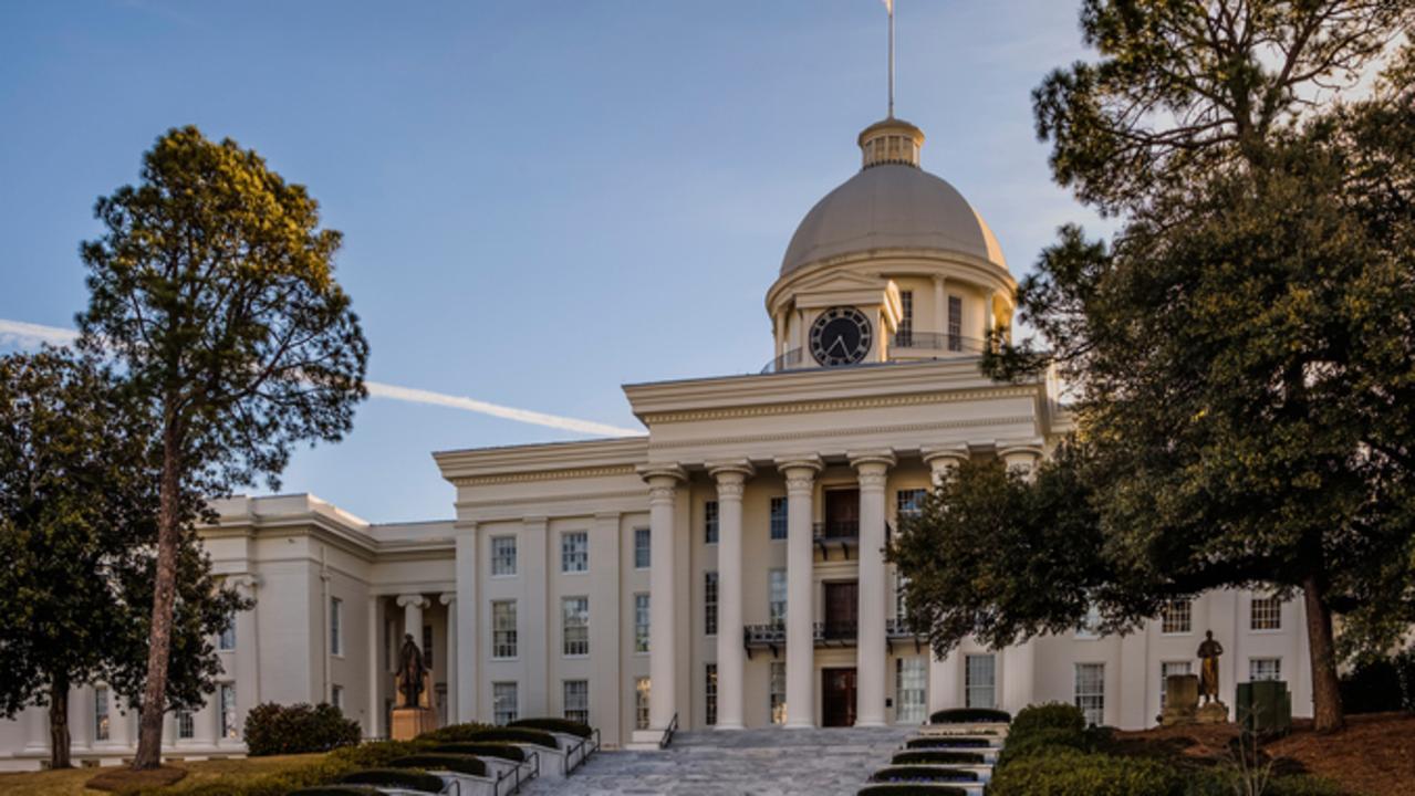 Alabama's State Capital building in Montgomery, Alabama