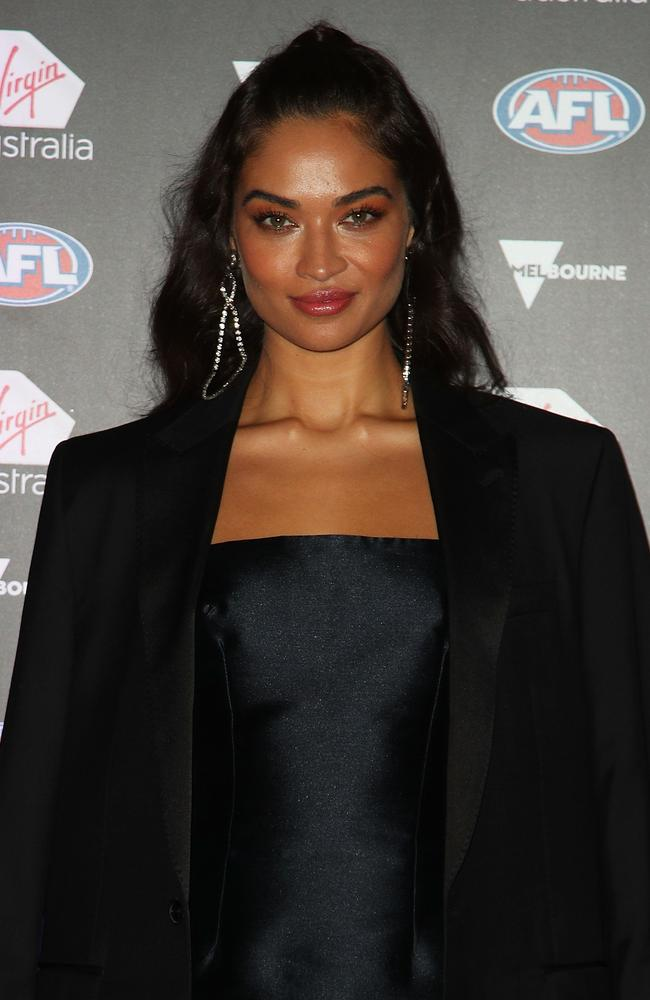 Shanina Shaik is a Collingwood supporter. Picture: Getty Images