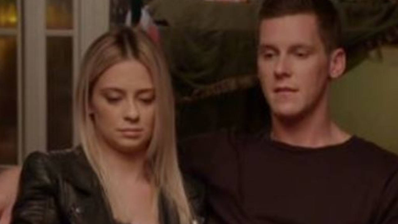 Tess and Luke seemed to realise they hadn't covered themselves in glory. Picture: Channel 9