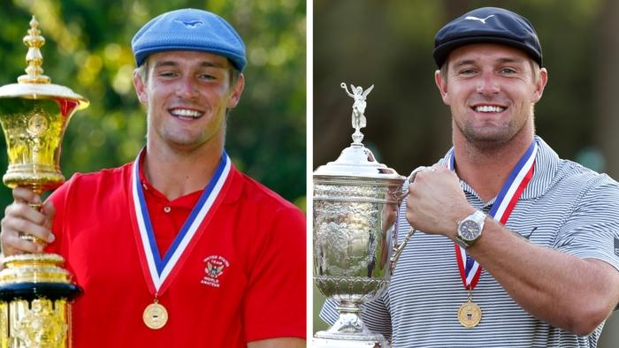 Bryson DeChambeau then and now.