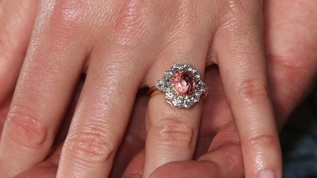 Princess Eugenie shows off rare sapphire engagement ring