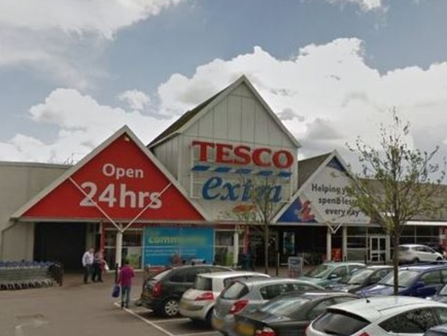 The incident happened in a branch of the UK supermarket chain, Tesco. Picture: Google