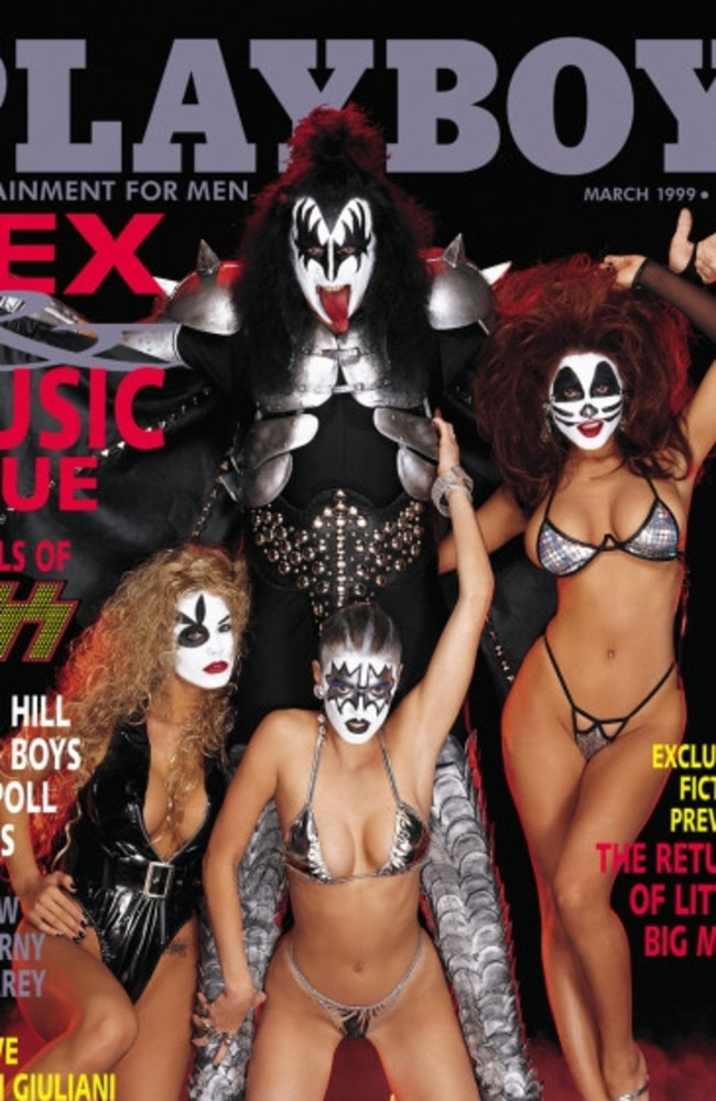 Gene Simmons on the cover of Playboy in 1999. Picture: Playboy