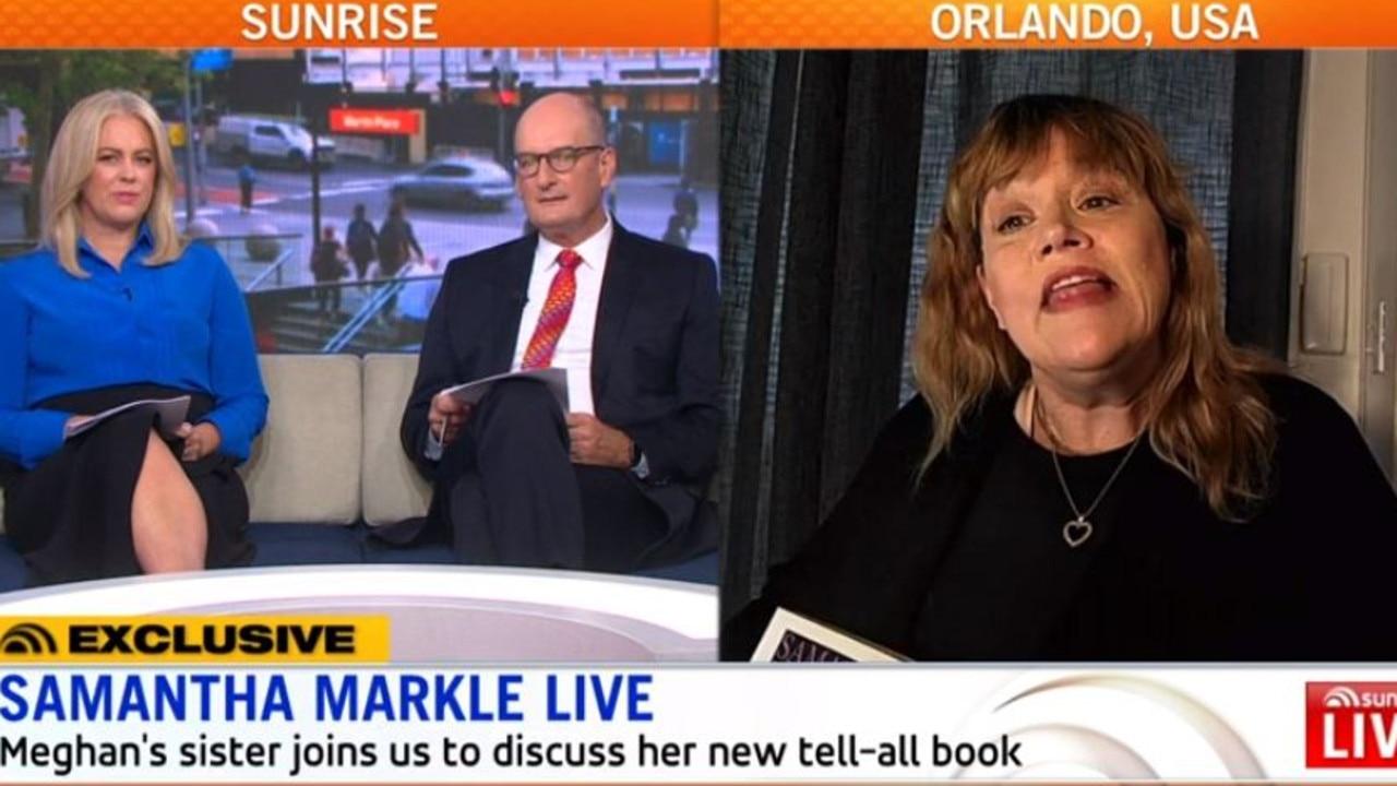 Samantha Markle speaks on Sunrise.