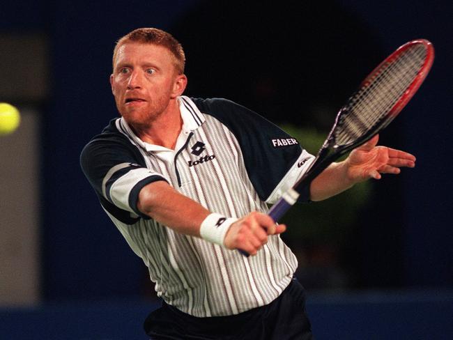 Becker at the 1996 Australian Open.