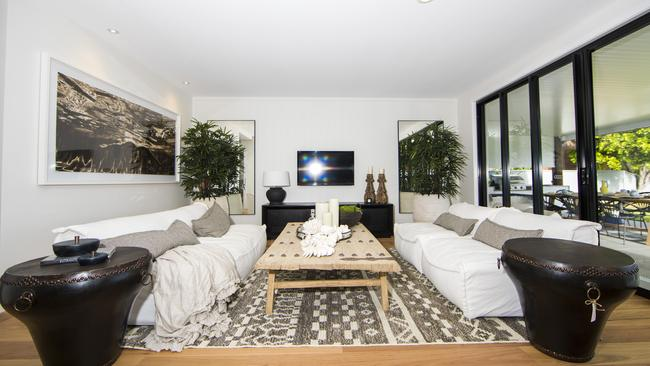 Inside the Broadbeach Waters home that House Rules winners Aaron and Daniella Winter have renovated. Picture: Nigel Hallett.