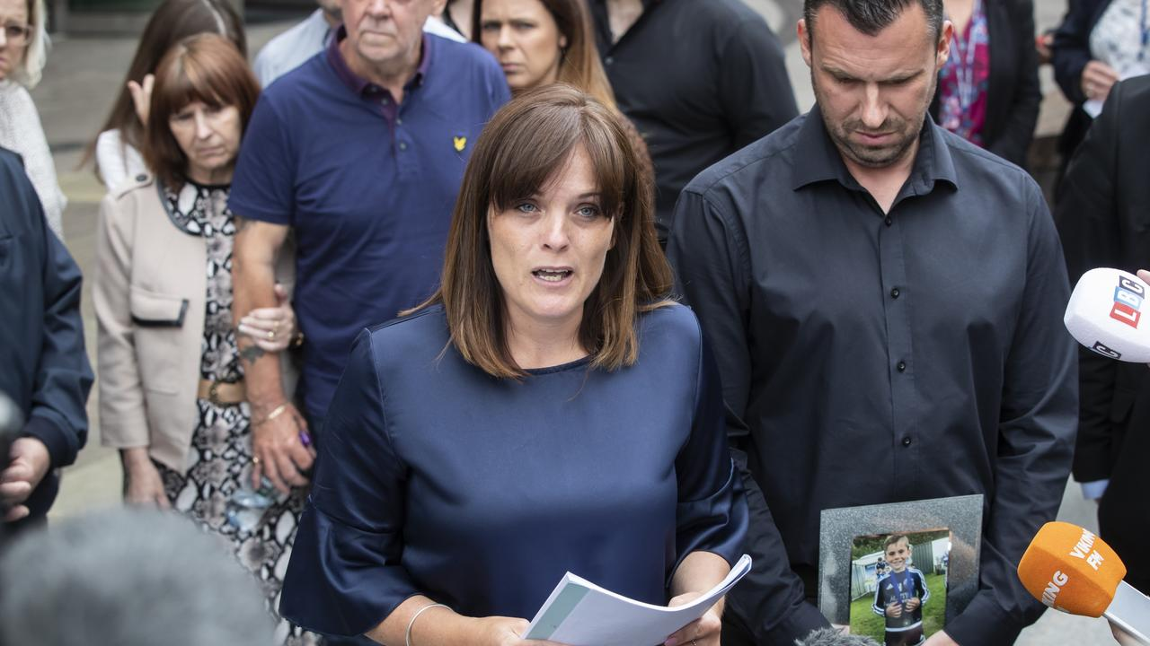 Stanley Metcalf's mum Jenny Dees speaks outside court after the sentencing. Picture: Danny Lawson/PA Wire