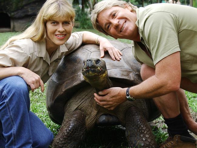 Steve and Terri Irwin at Australia Zoo.