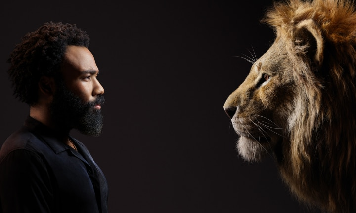 THE LION KING - (L-R) Donald Glover and Simba. Photo by Kwaku Alston. © 2019 Disney Enterprises, Inc. All Rights Reserved.