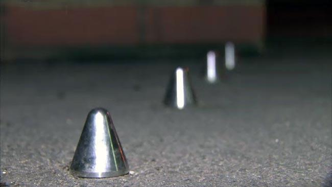 Metal spikes cause outrage