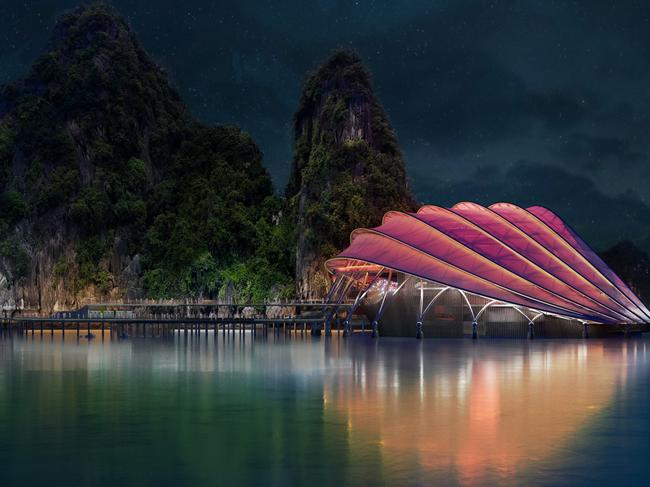 ... And if you think you've seen everything Halong Bay has to offer, think again: Designs for a futuristic new floating theatre set to be constructed in the middle of Halong Bay and complement the natural scenery have just been released, with the project slated for completion in 2020.