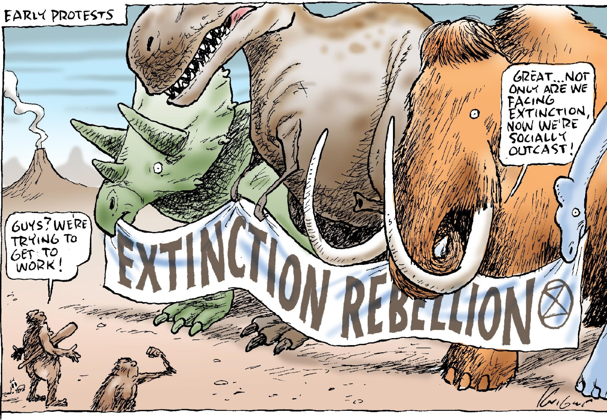 Mark Knight cartoon on Extinction Rebellion