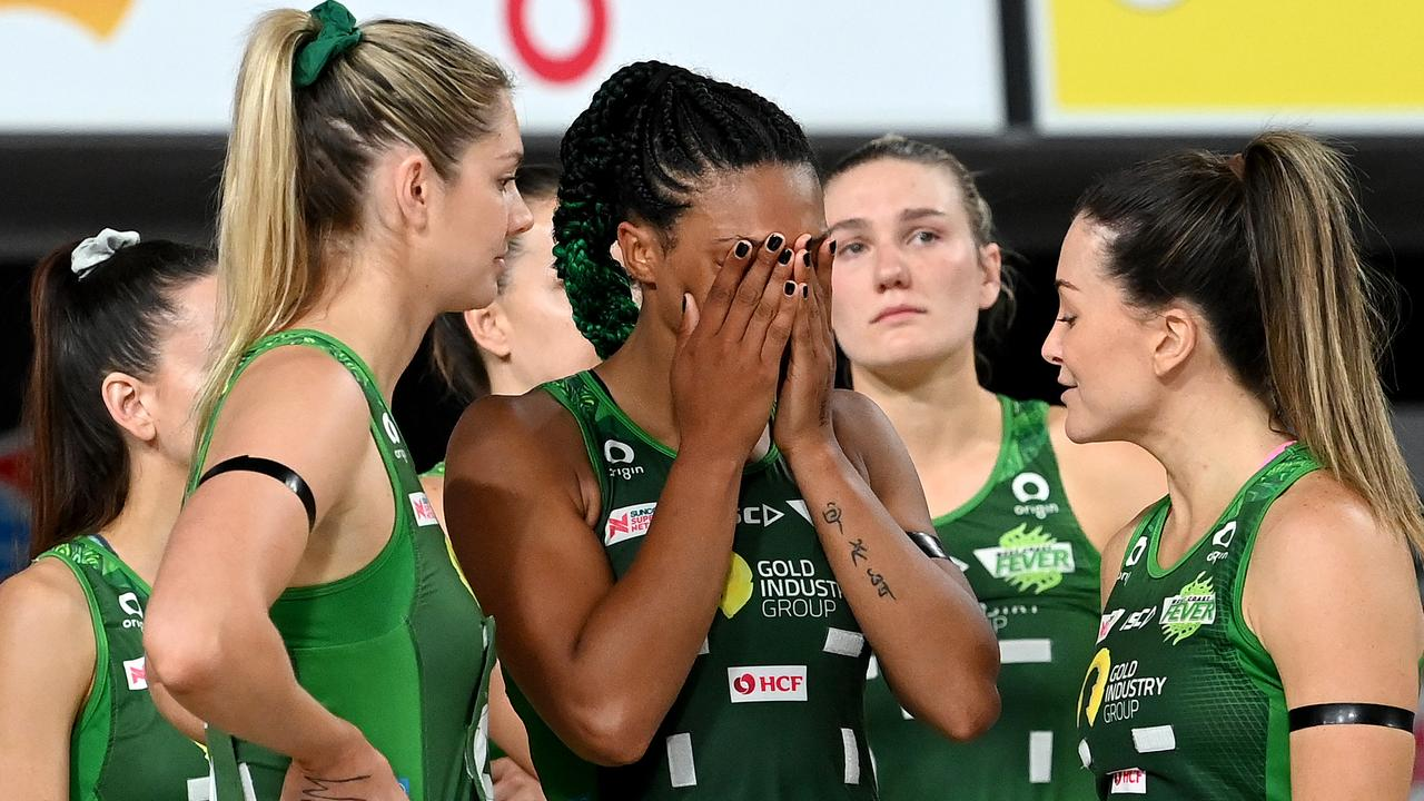 Shattered Fever players come to terms with their loss in the Super Netball decider.