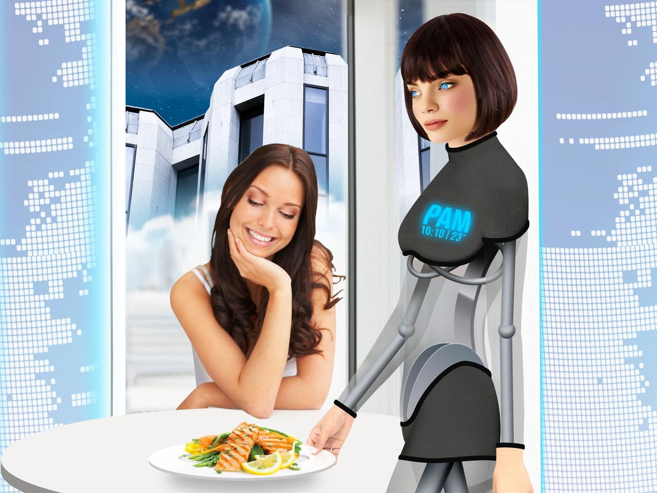 ESCAPE: Future of hotels 2060 story - Robot butler. Picture: Supplied