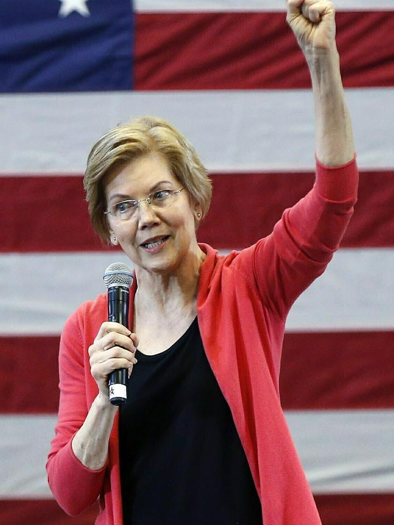 Senator Elizabeth Warren has also announced her candidacy. Picture: AP