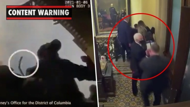 Capitol Riots: Previously unseen footage shows rioters storm US Capitol