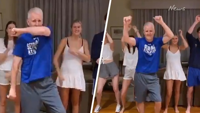 Andrew Gaze busts a move in viral family TikTok