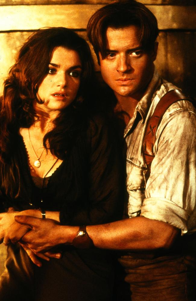 Starring alongside Rachel Weisz in The Mummy cemented Brendan Fraser's status as a Hollywood heavyweight. Picture: Supplied.